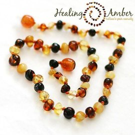 Baltic Amber Necklace - Baby 12""