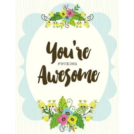 Yellow Bird Paper Greetings You're Awesome Greeting Card