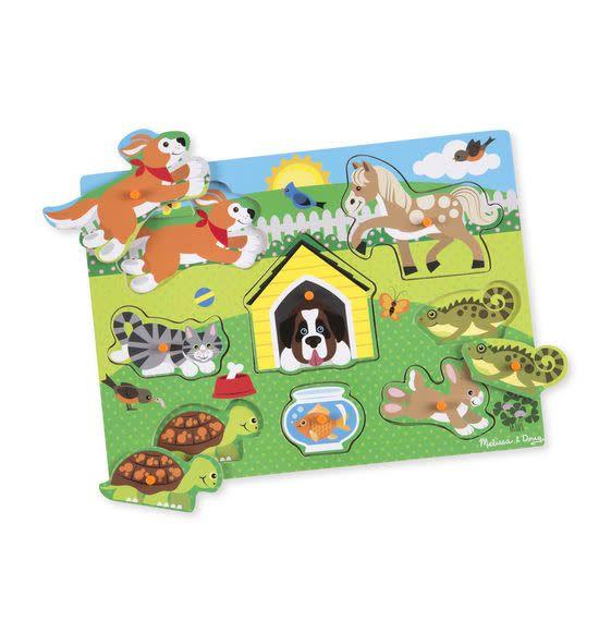 Melissa Doug Pets Peg Puzzle