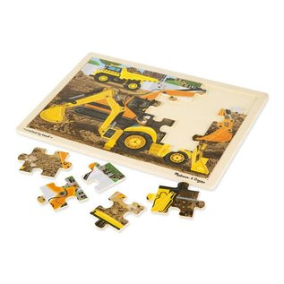 Melissa & Doug Diggers at Work Wooden Jigsaw Puzzle - 24 Pieces