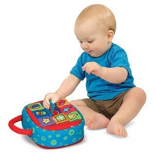 Melissa & Doug Take-Along Shape Sorter Baby and Toddler Toy