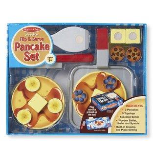 Melissa & Doug Flip & Serve Pancake Set - Wooden Play Food