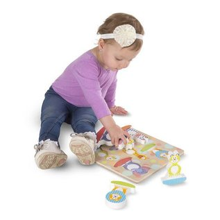 Melissa & Doug First Play Safari Chunky Puzzle - 5 Pieces