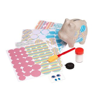 Melissa & Doug Decoupage Made Easy Craft Set - Piggy Bank