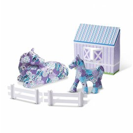 Melissa & Doug Delux Decoupage Made Easy Craft Set - Horse & Pony