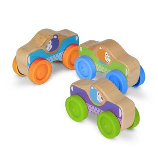 Melissa & Doug Wooden Animal Stacking Cars