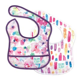 Bumkins Bumkins Starter Bib Watercolour 2 Pack