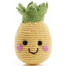 Pebble Pebble Handmade Happy Pineapple Rattle
