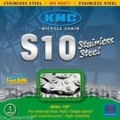 KMC S10 INOX  Single Speed Chain Stainless Steel