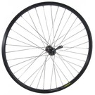"Alex 26"" DH22 Deore Front Wheel Silver Spokes Black Rim & Hub"