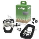 Wellgo R191B One Sided SPD/Rubber Platform Pedals