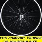 """26"""" Inch Rear Freewheel Wheel Silver"""