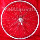 """26"""" Alex DM18 (XLC) Silver Doublewall Rear Wheel/ Shimano TX-800 cassette hub"""