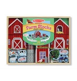 Melissa and Doug DNR Melissa and Doug Farm Blocks 36 piece Play Set