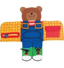 Melissa and Doug Melissa and Doug Quiet Book Dress Up Bear Soft Activity Book