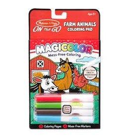 Melissa and Doug Melissa and Doug On The Go Magicolor Coloring Pad Farm Animals