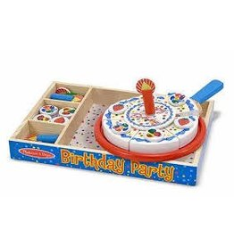 Melissa and Doug Melissa and Doug Wooden Pretend and Play Food Set Birthday Party Cake