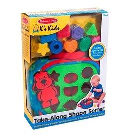 Melissa and Doug Melissa and Doug Ks Kids Take Along Shape Sorter Baby Toy