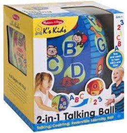Melissa and Doug Melissa and Doug Ks Kids 2 in 1 Talking Ball