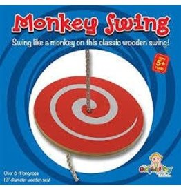 The Original Toy Company Original Toy Wooden Monkey Swing Outdoor Playground Accessory