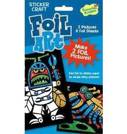 Peaceable Kingdom Peaceable Kingdom Foil Art Robots Sticker Craft Pack