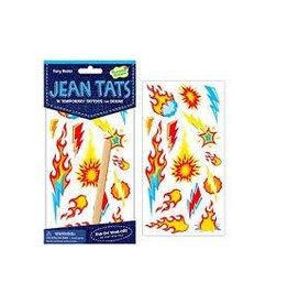 Peaceable Kingdom Peaceable Kingdom Jean Tats Fiery Blasts Temporary Tattoos for Fabric