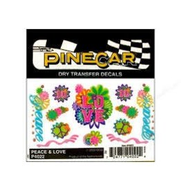 Pinecar PineCar Dry Transfer Peace and Love