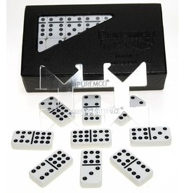 Continuum Games Domino Double 9 Tournament Size Black Dots