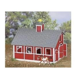 Reeves Breyer Stablemates Red Stable and Horse Set