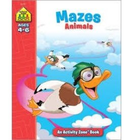 School Zone School Zone Mazes Animals Ages 4 to 6