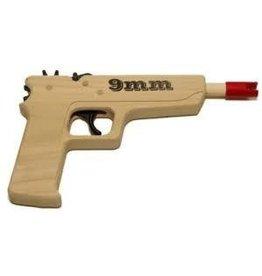 Magnum Enterprises 9 mm Pistol Rubber Band Gun PACKAGED