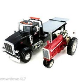 Tomy Ertl Big Farm 1 16 Scale Peterbilt Model 367 Delivery Truck With Roll Off And Ih 1206 Nf