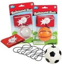 Toysmith Rebound Ball Sports Single Styles Vary