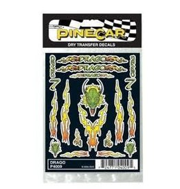 Pinecar PineCar Dry Transfer Decals Dragon