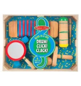 Melissa and Doug DNR Melissa and Doug Band in a Box Drum Click Clack