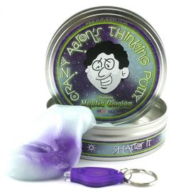 Crazy Aarons Puttyworld Crazy Aarons Thinking Putty Mystic Glacier  plus Blacklight Keychain