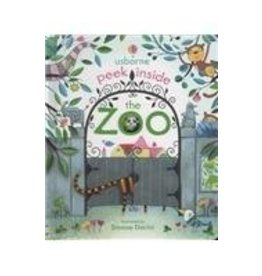 Educational Development Corporation Usborne Peek Inside The Zoo Book
