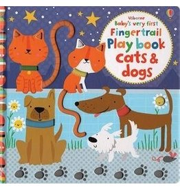 Educational Development Corporation Usborne Babys Very First Fingertrail Book Cats and Dogs