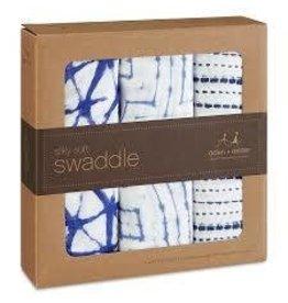 Aden and Anais Aden and Anais Indigo Silky Soft Swaddle 3 Pack