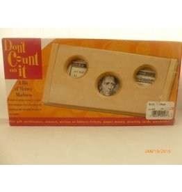 Family Games America Dont Count On It Wooden Puzzle 3 holes Original