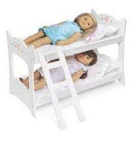 Badger Basket Co Badger White Rose Doll Bunk Bed