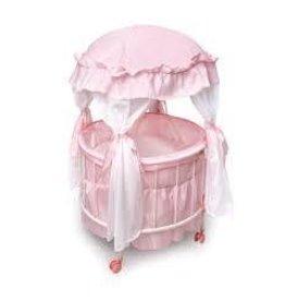 Badger Basket Co Royal Pavillion Round Crib with Bedding