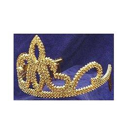 Halloween Gold Tiara Plastic with Combs