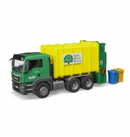 Bruder Bruder MAN TGS Rear Loading Garbage Truck Green Yellow