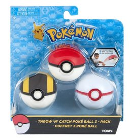 Tomy Tomy Pokemon Throw n Catch Poke Ball 3 Piece