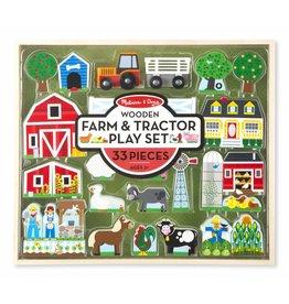 Melissa and Doug Melissa and Doug Wooden Farm and Tractor Play Set