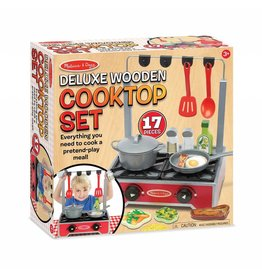 Melissa and Doug DNR Melissa and Doug Deluxe Wooden Cooktop Set