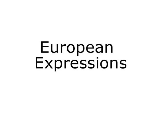 European Expressions