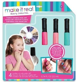 Make It Real LLC Make It Real Paint and Sparkle Nail Art Blooming Creativity