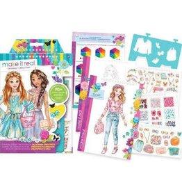 Make It Real LLC Make It Real Fashion Design Sketchbook Blooming Creativity